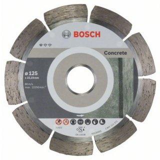 Diamanttrennscheibe Bosch Standard for Concrete 125x22,23x1,6 (VE 10 St)
