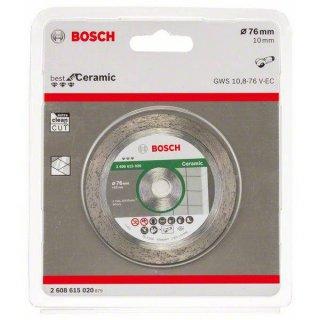 Diamanttrennscheibe Bosch Best for Ceramic  76x10,0x1,4 do GWS 10,8 V-EC/GWS 12V-76