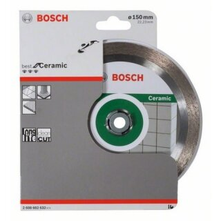 Diamanttrennscheibe Bosch Best for Ceramic 150x22,23x1,9