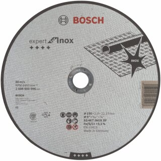 BOSCH Trennscheiben Expert für Inox 230x22,23x2,0
