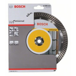 Diamanttrennscheibe Bosch Best for Universal Turbo 180x22,23x2,5