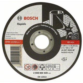 BOSCH Trennscheibe gerade Expert for Inox - Rapido AS 60 T INOX BF, 125 mm, 1,0 mm
