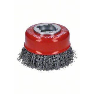 Topfbürsten gewellter Draht Bosch X-LOCK Clean for Metal  75,0x0,30