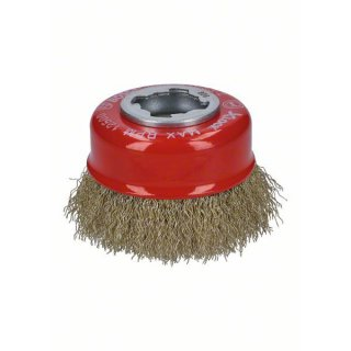 Topfbürsten gewellter Draht Bosch X-LOCK Clean for Metal  75,0x0,30 (gewellter Draht, vermessingt)