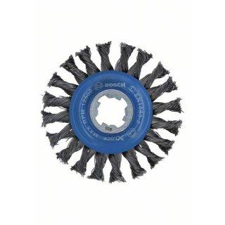 Scheibenbürsten gezopfter Draht Bosch X-LOCK Heavy for Metal 115,0x0,50