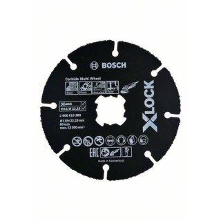 Trennscheibe gerade Bosch X-LOCK Carbide Multi Wheel 125x22,23x1,0
