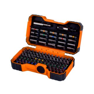 Bahco Bit-Box, 100-teilig, Schlitz, Phillips, Pozidriv, Torx®, Torx®-Tr, Sechskant, Robertson®, Sb-Verpackung 59/S100Bc