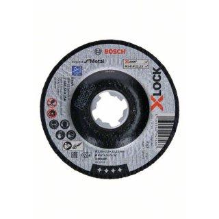 Schruppscheibe gewinkelt Bosch X-LOCK Expert for metal 125x22,23x6,0