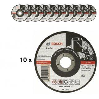 10x BOSCH Trennscheibe gerade Expert for Inox Rapido AS60T INOX BF 125x1,0 mm