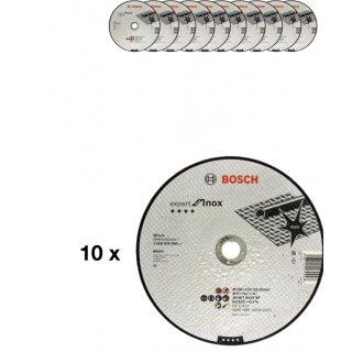 10x BOSCH Trennscheiben Expert für Inox 230x22,23x2,0