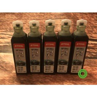 5x STIHL Zweitaktmotorenöl HP Ultra 100 ml