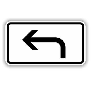 Verkehrszeichen Verkehrsschild Zusatzzeichen 330x600mm  links abbiegend RA1