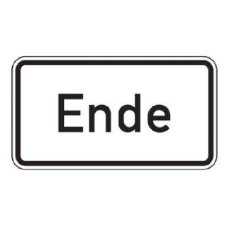 Verkehrszeichen Verkehrsschild Zusatzzeichen 330x600mm Ende RA1