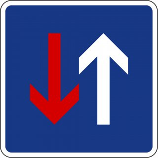 Verkehrszeichen Quadrat 308 Vorrang vor dem Gegenverkehr STVO