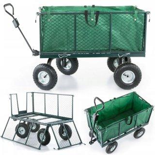 Bollerwagen, Faltwagen, Transportkarre,  faltbar mit Metallwänden Belastbar 550 kg 102x52x41cm