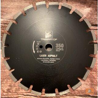 Diamanttrennscheibe Laser Asphalt 350 mm 25,4 mm
