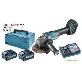 Akku-Winkelschleifer MAKITAGA005GM201 XGT 40Vmax 2x4.0Ah +  DC40RA + Makpac