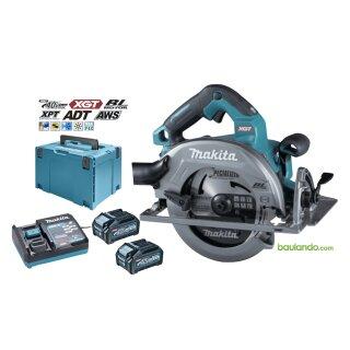 Makita Akku Handkreissäge HS003GM201 190MM XGT 40Vmax AWS 2x4,0Ah + DC40RA + Makpac