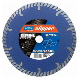 Norton Clipper Diamanttrennscheibe Extreme Universal Turbo - 230x22,2 mm + Flansch
