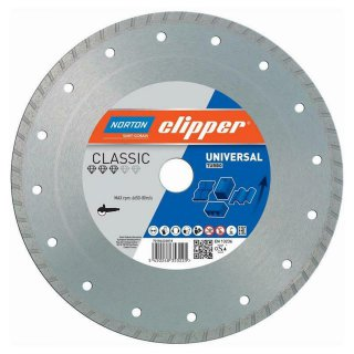 Norton Clipper Diamanttrennscheibe Classic Universal Turbo - 230x22,2 mm