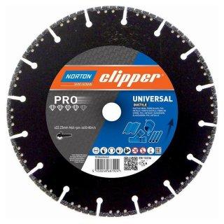 Norton Clipper Diamanttrennscheibe Pro Universal Ductile - 115x22,2 mm