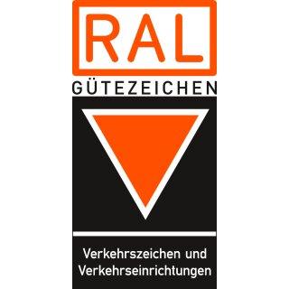 Verkehrszeichen 283-30 Ronde - Alu 3 mm - Absolutes Halteverbot Mitte Rechtsaufstellung - 600 mm - RA2