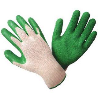 Handschuhe Latex grün Gr. 10 Arbeitshandschuhe Pflasterhandschuhe Rutschfest Gartenhandschuhe