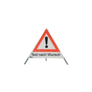 Warnpyramide 90cm - tagesleucht., leichtes Gestell mit Mittelfuß VZ101