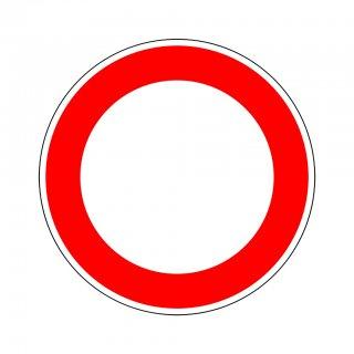 Verkehrszeichen Ronde 250 Verbot für Fahrzeuge aller Art 600 mm RA1