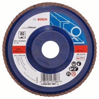 Bosch Fächerschleifscheibe Expert for Metal gerade X551 125x22,23 K 80