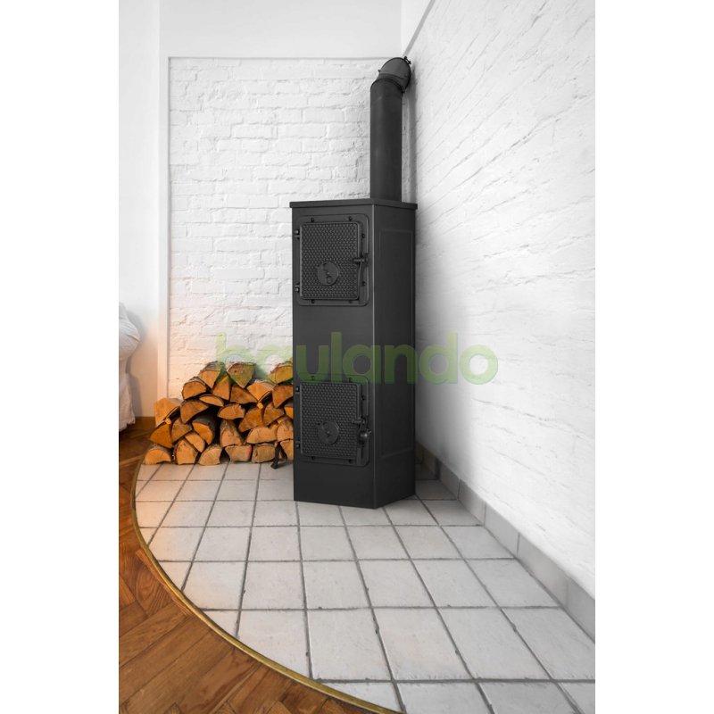 Werkstattofen 6 KW 34x70x38cm environ Holzofen métropolitaine hüttenofen//60 m²-150 m³