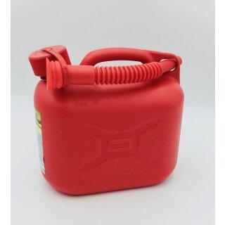 Kraftstoffkanister Kunststoff rot 5 Liter