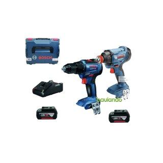 Bosch SET - GDX 18V 200 + GSR 18V 55 (2x4,0 Schnelladegerät L BOXX)