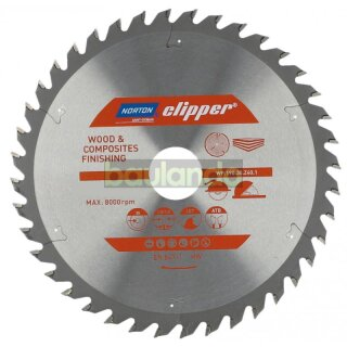 Norton Clipper Kreissägeblatt Holz / Verbundwerkstoffe 185x30/20/16  24Z