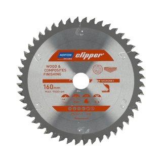 Norton Clipper Kreissägeblatt Holz / Verbundwerkstoffe 160x20 48Z