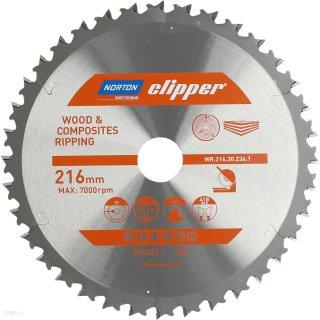Norton Clipper Kreissägeblatt Holz / Verbundwerkstoffe 216x30 36Z