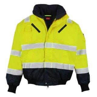 LeiKaTex® Pilotjacke - Warnschutz - gelb/marineblau -