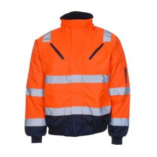 LeiKaTex® Pilotjacke - Warnschutz - warnorange/marineblau -