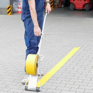 Fahrbahnmarkierungsfolie, gelb, 120 mm