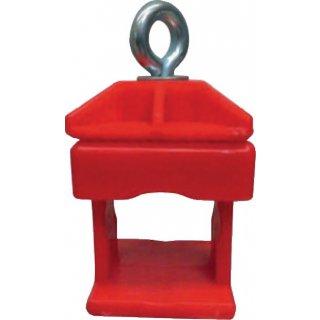Schilderklemme K1 Klemmschelle Bauschilderschelle Rundrohr 42 mm Vierkantrohr 40