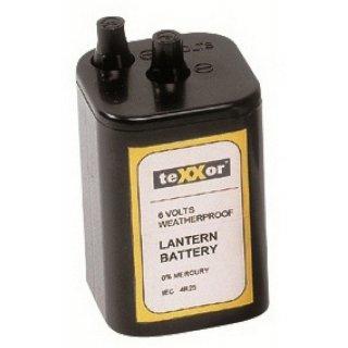 Batterie 6V für Baustellen-Warnleuchte Blockbatterie
