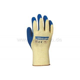 Handschuhe PowerGrab Latex natur/blau