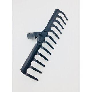 Gartenrechen Harke 12 Zinken, 30cm Strassenrechen Rasenrechen leicht grau